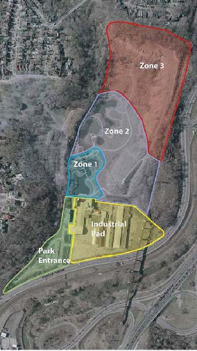 Zoning Plan proposed by Evergreen in the Master Plan of 2005, Copyright of Evergreen